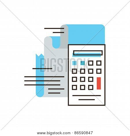 Calculation Of Tax Flat Line Icon Concept