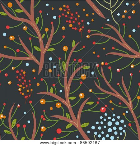 vector seamless pattern with leafs. Vector background