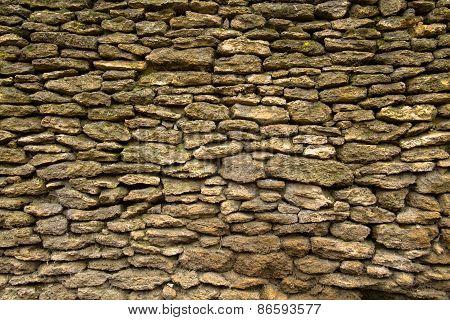 old stone wall limestone