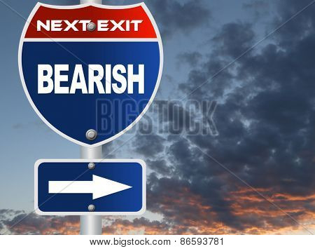 Bearish road sign