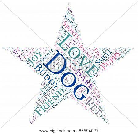 Star Shaped Dog Word Cloud