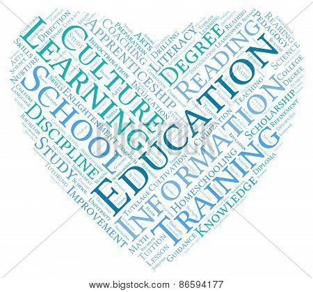 Education Heart Shaped Word Cloud