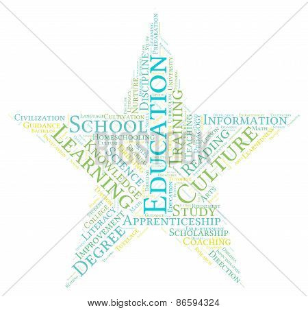 Star Shaped Education Word Cloud