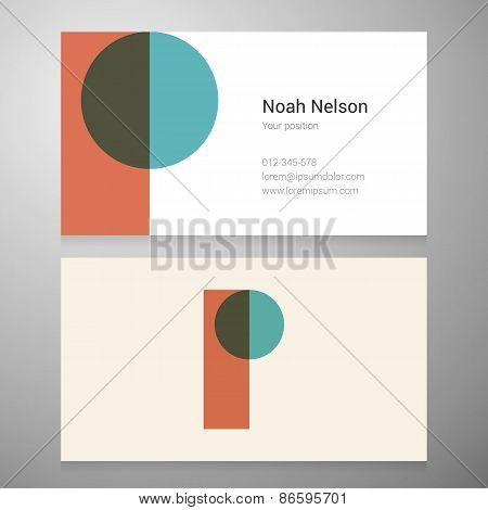Vintage Letter P Icon Business Card Template