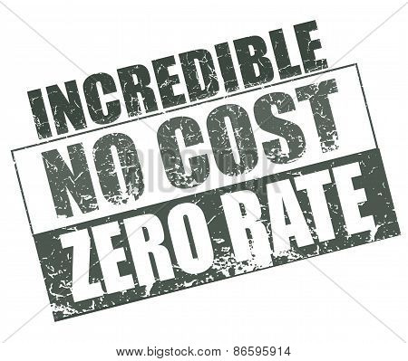 Incredible No Cost Zero Rate Stamp