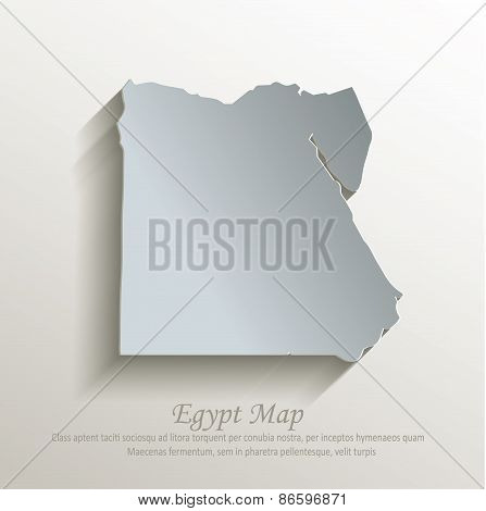 Egypt map white blue card paper 3D vector