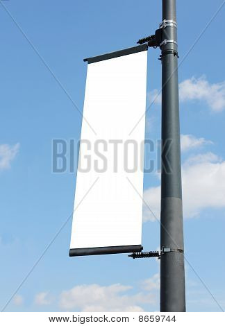 Blank Poster On Lampost