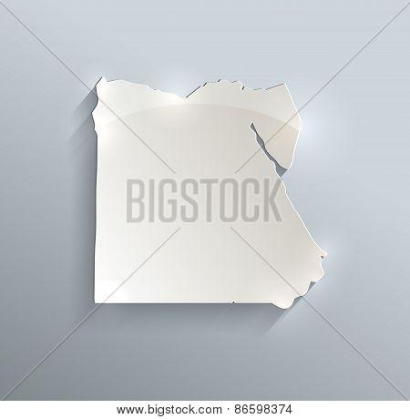 Egypt map blue white card paper 3D vector infographics raster