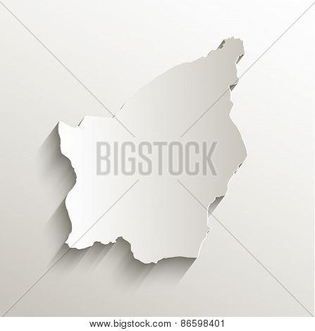 San Marino map card paper 3D natural raster