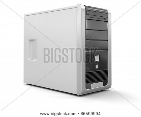 Computer (clipping path included)