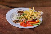 foto of shawarma  - Eastern food - JPG