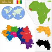 foto of guinea  - Administrative division of the Republic of Guinea - JPG