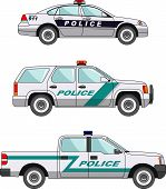 picture of armored car  - Three variants of the police car in a flat style - JPG
