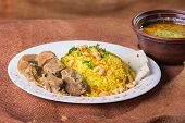 picture of arabic  - Pilaf cooked in Arabic - JPG