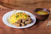 pic of arabic  - Pilaf cooked in Arabic - JPG