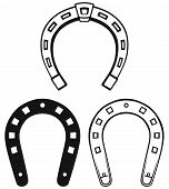 stock photo of horseshoe  - Silhouette horseshoe - JPG