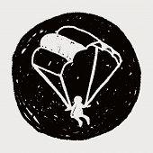 picture of parachute  - Doodle Parachute - JPG