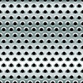 pic of metal grate  - Eps 10 Vector Illustration of Perforated Metal Background - JPG