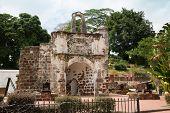 picture of malacca  - The Porta de Santiago in Malacca - JPG