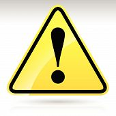 pic of precaution  - Yellow Exclamation Mark Sign  - JPG