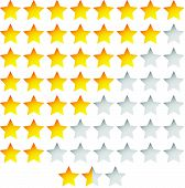picture of starlet  - Eps 10 Vector Illustration of Star Rating Template Vector with group of stars - JPG