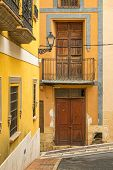 pic of costa blanca  - Narrow old town streets of a Costa Blanca village - JPG