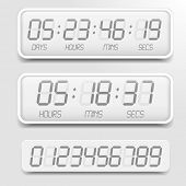 picture of countdown timer  - detailed illustration of a bright themed digital countdown timer with LCD - JPG