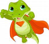 foto of alligator  - Illustration of Super Hero Alligator - JPG