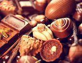 pic of white-milk  - Chocolates background - JPG