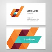 picture of letter d  - Modern letter D Business card template - JPG
