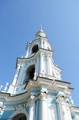 image of nicholas  - The bell tower of the St. Nicholas Naval Cathedral St. Petersburg Russia.