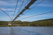 stock photo of trans  - Trans Alaska oil pipeline - JPG