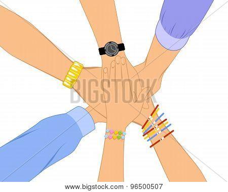 Bunch Of Hands