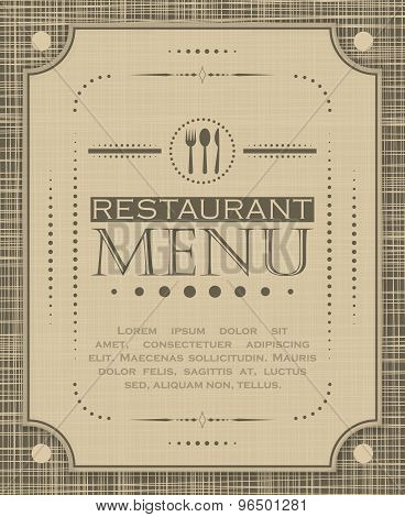 Creative restaurant menu cover design