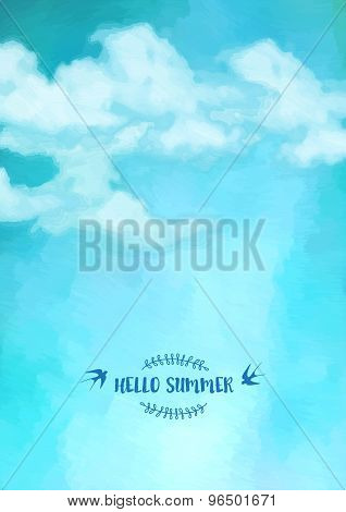 Sky Clouds Vector Background