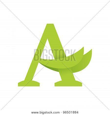 A Letter Eco Logo