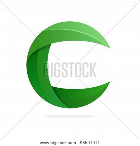 C Letter Eco Logo