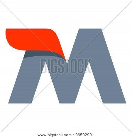 M Letter Logo Design Template.