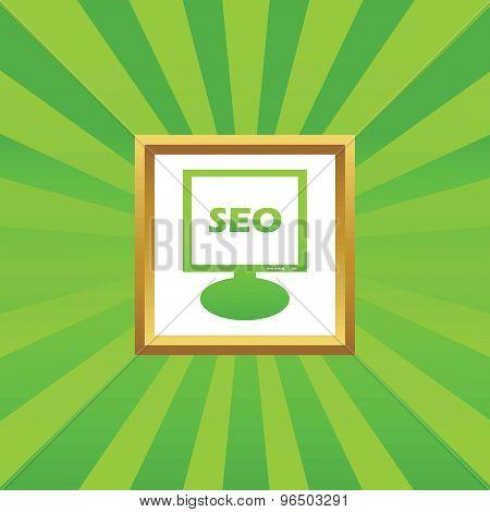 SEO monitor picture icon