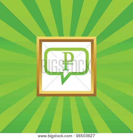 Ruble message picture icon