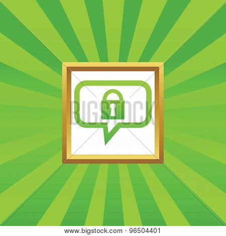 Locked message picture icon