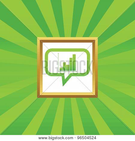 Graphic message picture icon