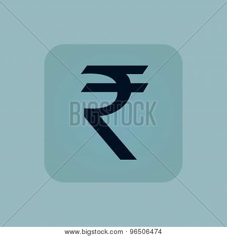 Pale blue rupee icon