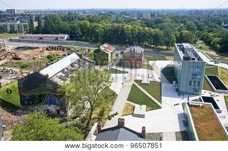 KATOWICE POLAND - JULY 19 2015:In an old coal mine was formed new Silesian Museum on 19 July 2015 in