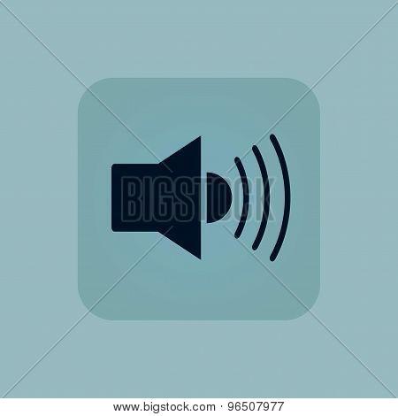 Pale blue loudspeaker icon