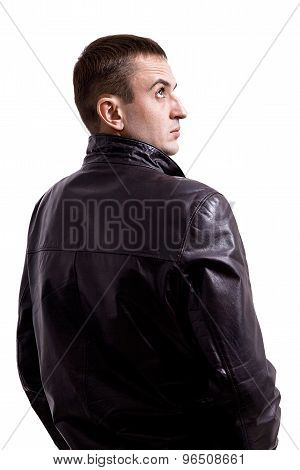 Portrait Of Man In Leather Jacket