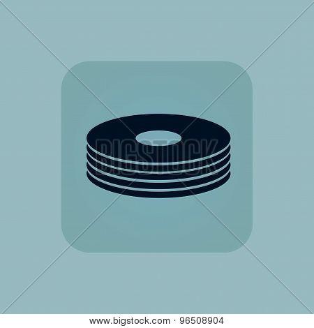 Pale blue disc pile icon