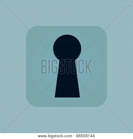 Pale blue keyhole icon
