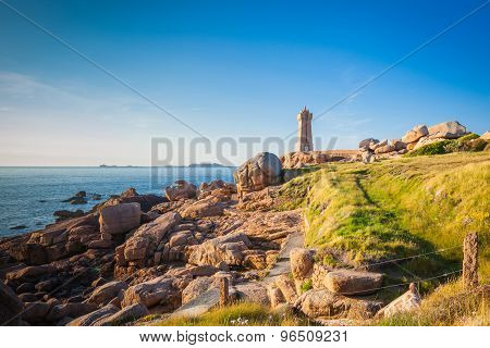 Ploumanach  Lighthouse Brittany France