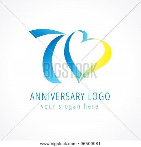 70 anniversary logo